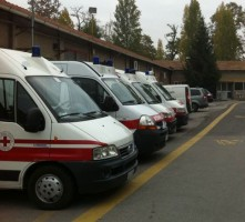 Ambulanze in attesa
