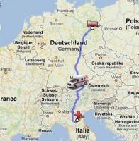 Trasporto in ambulanza a lunga percorrenza CRI Ferrara: Berlino - Ferrara
