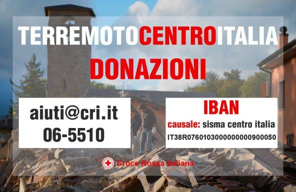 Donazioni sisma centro italia croce rossa