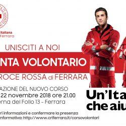 Volantino corso accesso CRi Ferrara